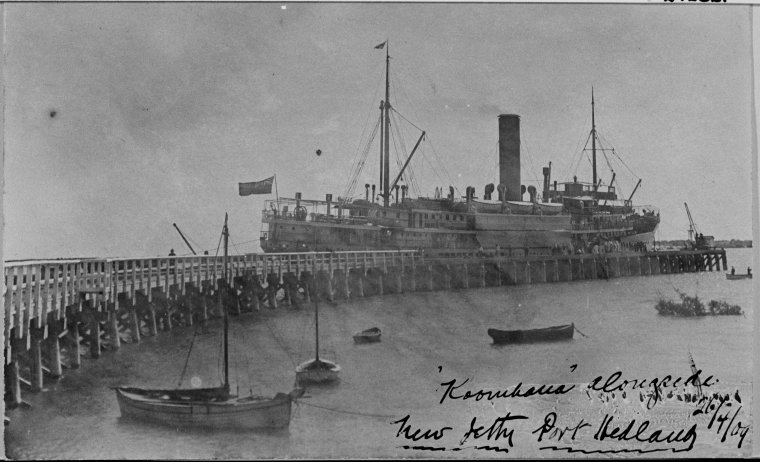 SS Koombana Port Hedland jetty 1909